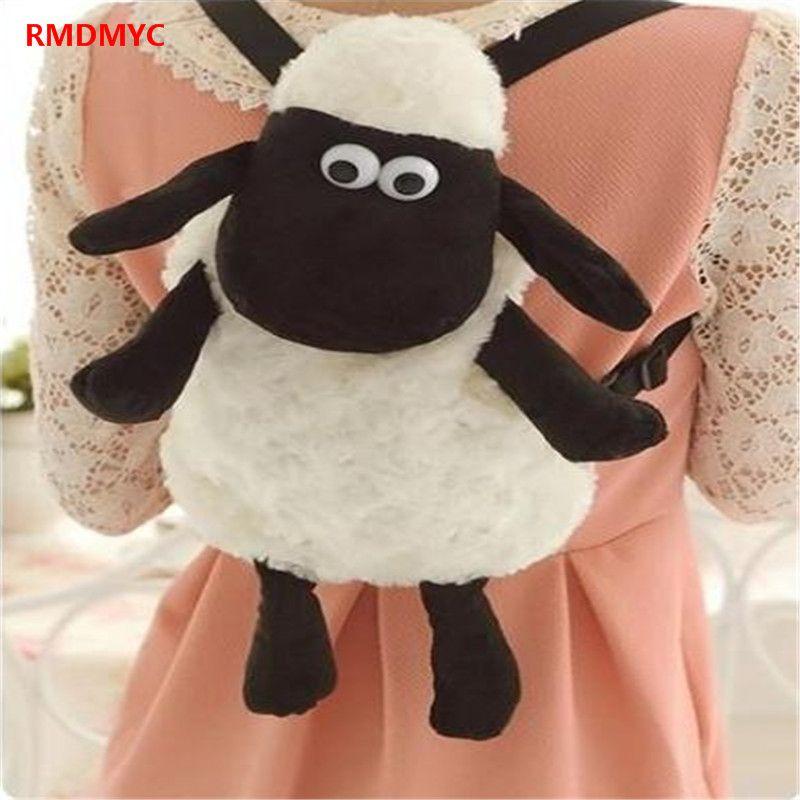 78818c5627 RMDMYC Shaun The Sheep Plush Women s Backpacks Kawaii 25cm 35cm Stuffed  Animal Sheep Shaun Plush Toys for Children School Bags