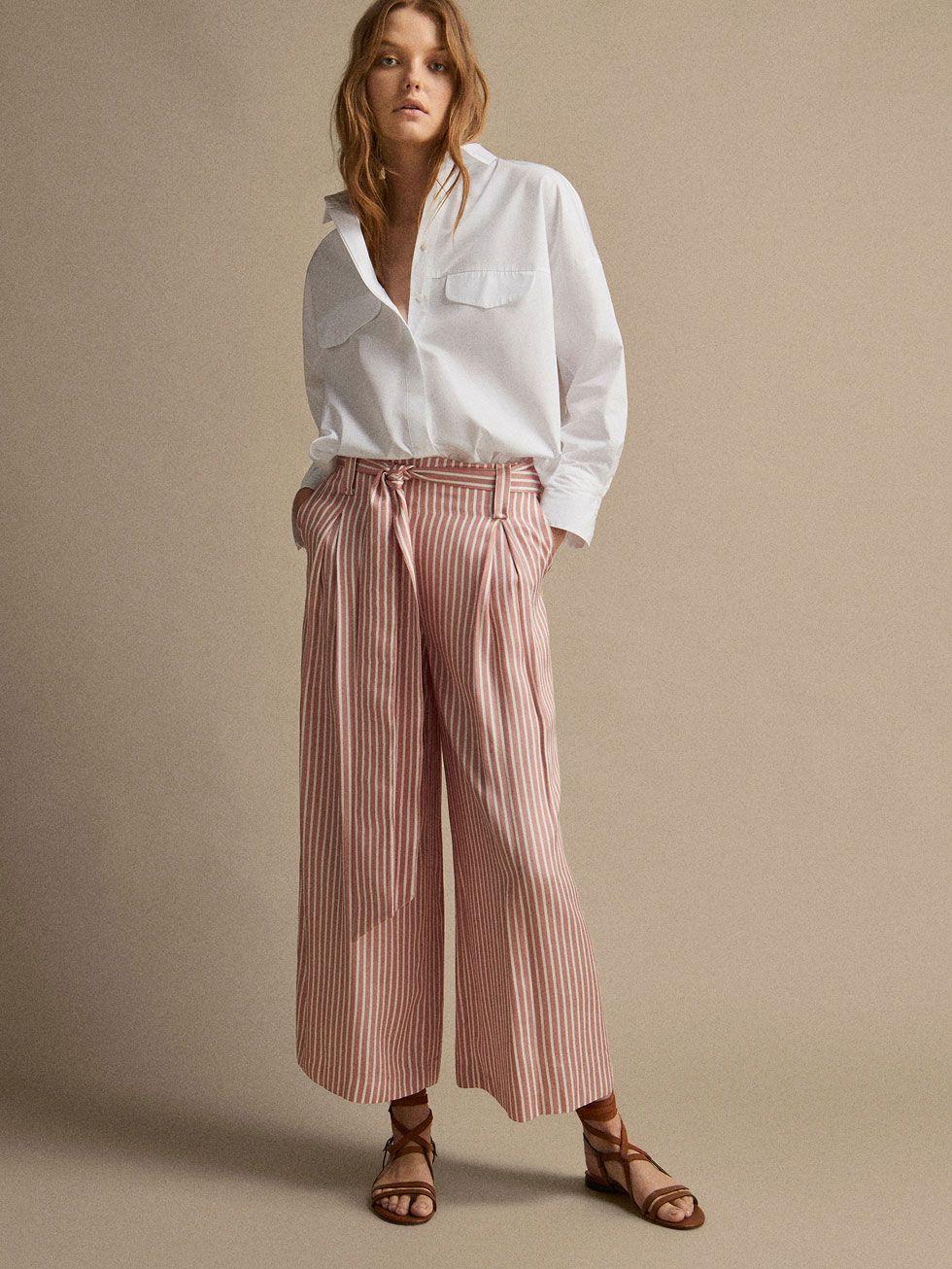 Pantalon Rayas Lazada Culotte Fit Mujer Massimo Dutti Mexico Jupe Culotte Idees De Mode Jupe