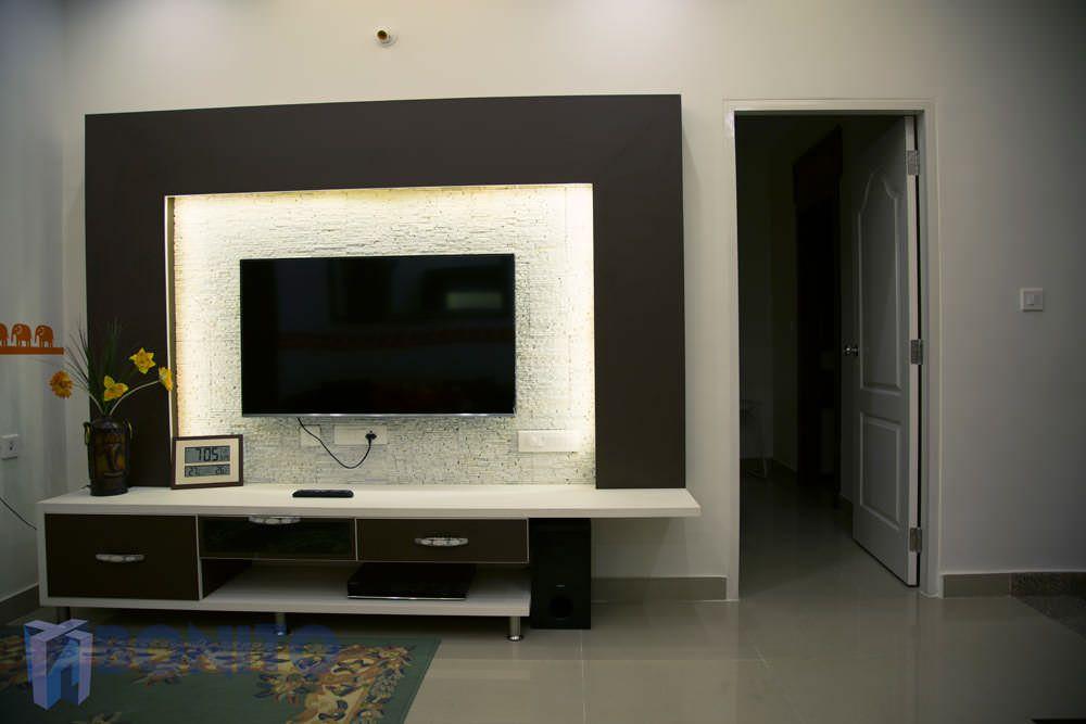 Mr Vivek Malhotra S Villa Hoskote Living Room Tv Wall Modern