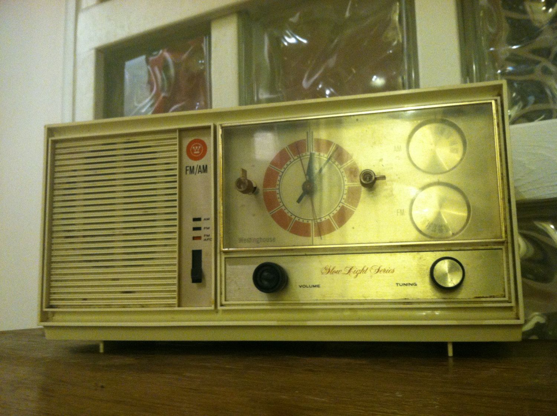 Rare Westinghouse Slow Light Series AM/FM Alarm Clock Tube Radio- Antique White/Cadet Grey Model No H946LN6 by VINTAGERADIOSONLINE on Etsy