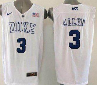 374b03f7917 Duke Blue Devils  3 Grayson Allen White Basketball Elite Stitched NCAA  Jersey