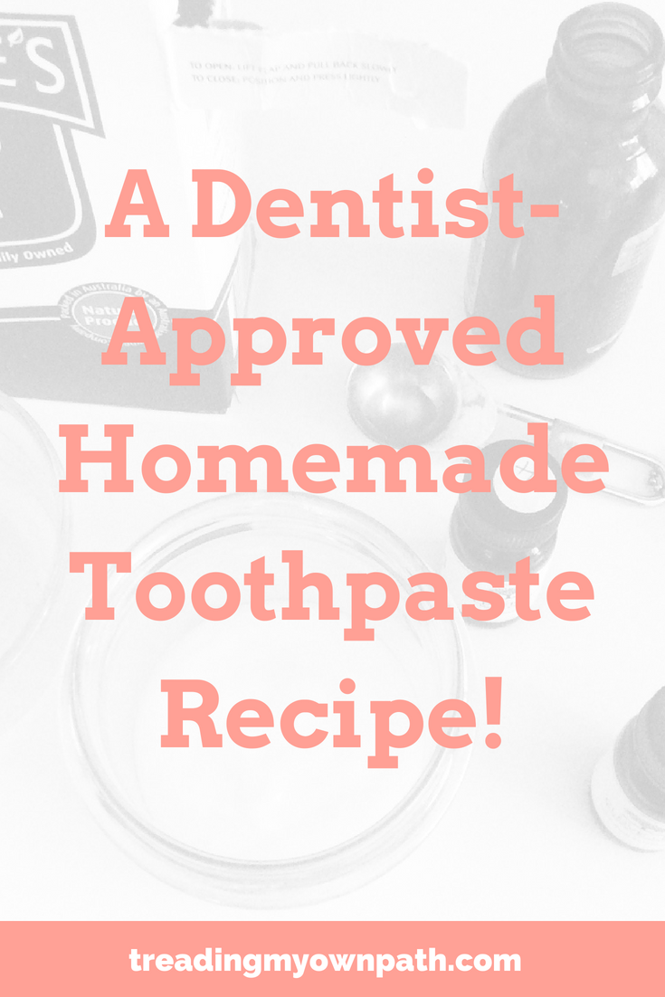 A dentist-approved homemade toothpaste recipe!