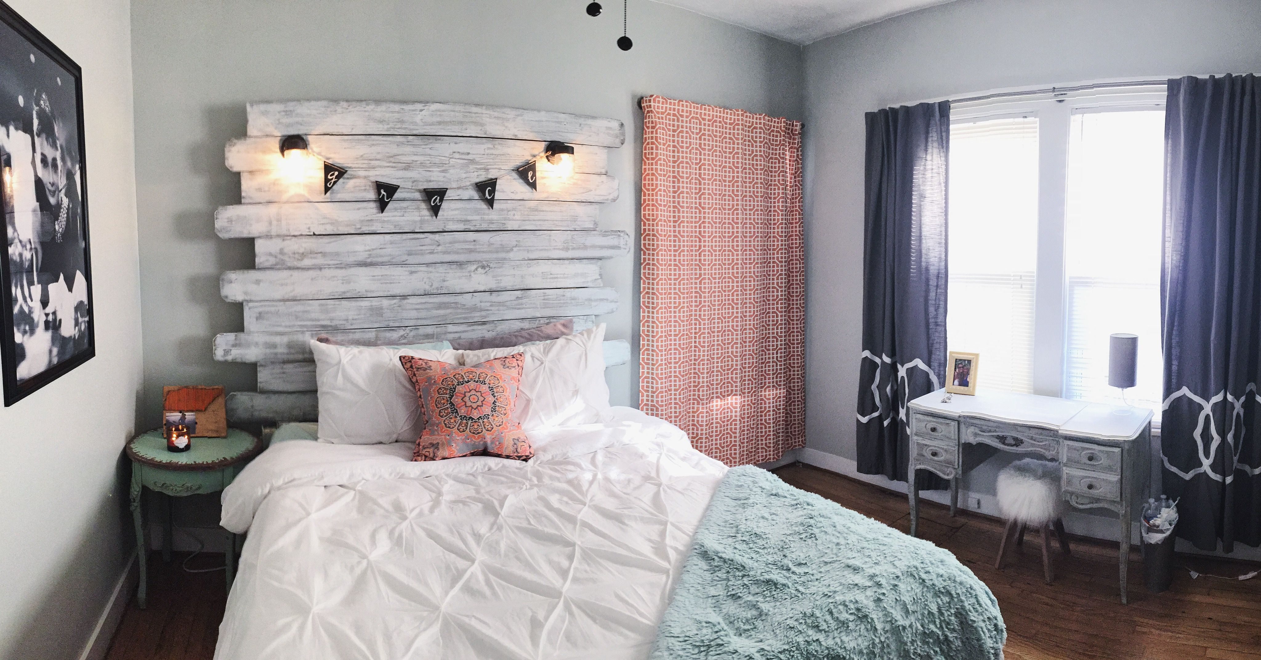 My Room In Knoxville Tn This School Year Handmade Headboard And