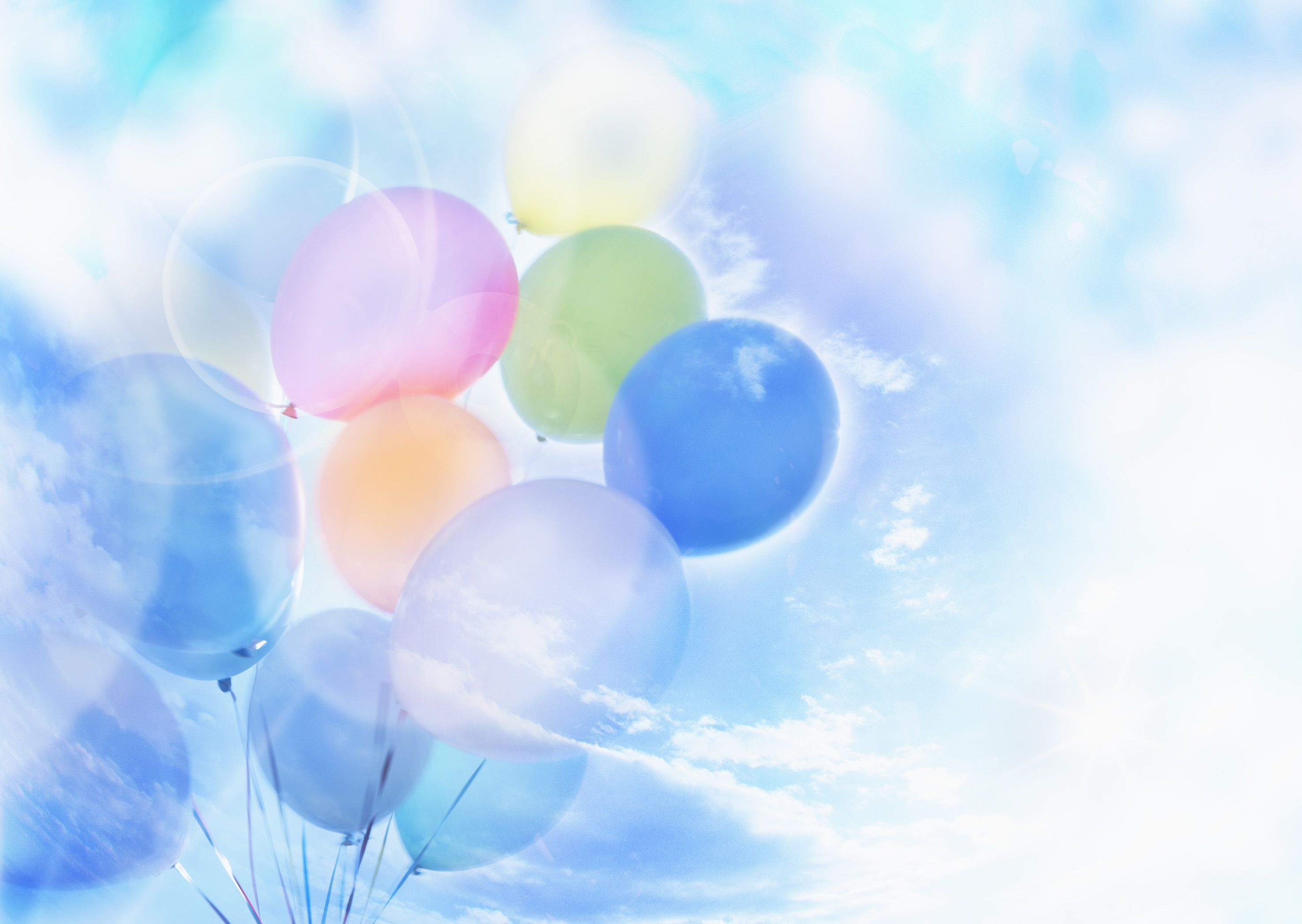 flowers and balloons clipart