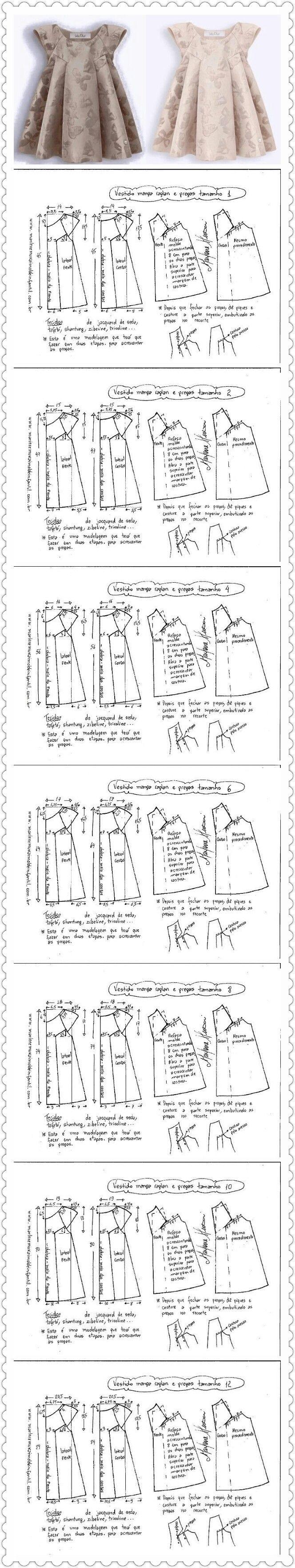 Girl\'s dresses Más | vestido menina | Pinterest | Costura, Patrones ...