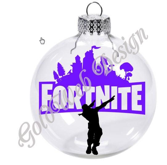 Fortnite Dab Video Game Inspired Floating Glass Ball Christmas