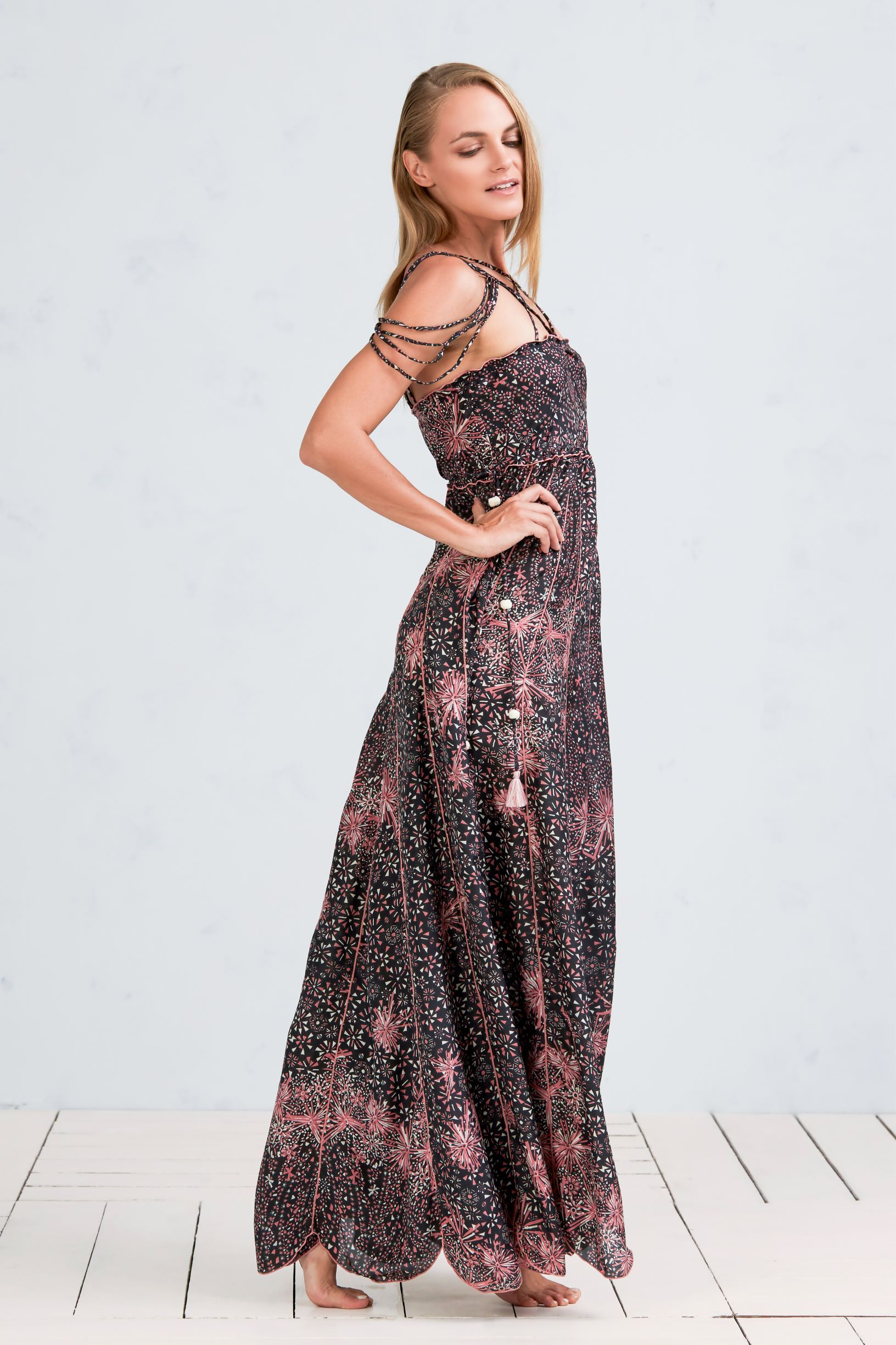 f296da6dfe ... Poupette St Barth. Our long silk Nuna dress is infused with the rare  and exotic beauty of the island