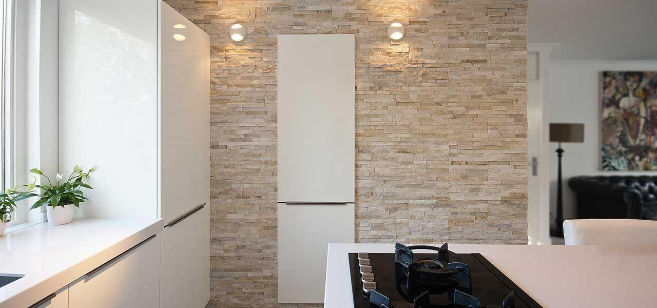 Gamma Keuken Wand : Barroco Natuursteenstrips, Steenstrips, Glamour Gold, Wand