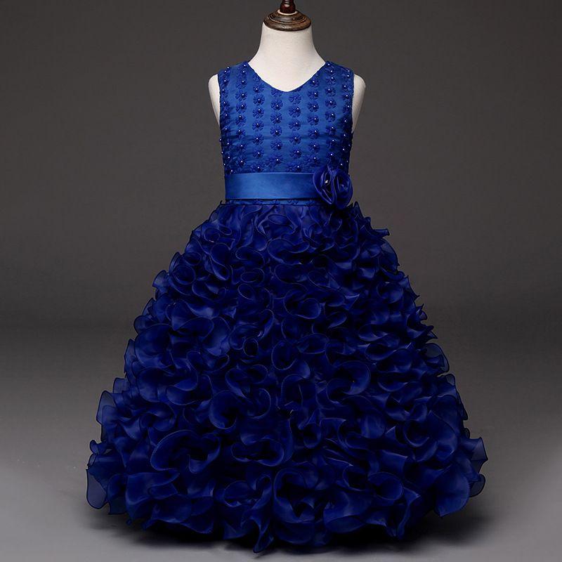 Childrens Dress Pattern Designer Formal Kids Party Evening Gowns For