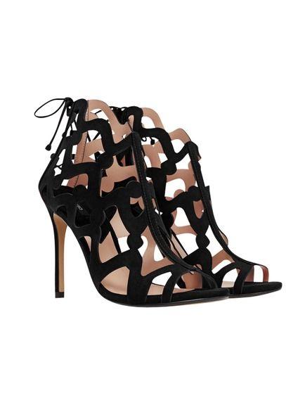 Sandales hautes Noir by MANGO | Sandale haute,