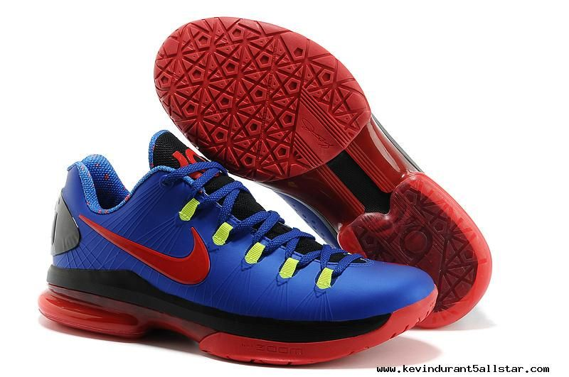 Authentic Black Silver Red Nike KD V Elite Low For Wholesale