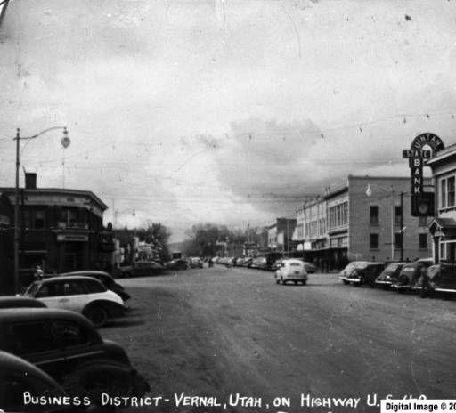 Main Street Vernal Utah 1947 Uintah County Library