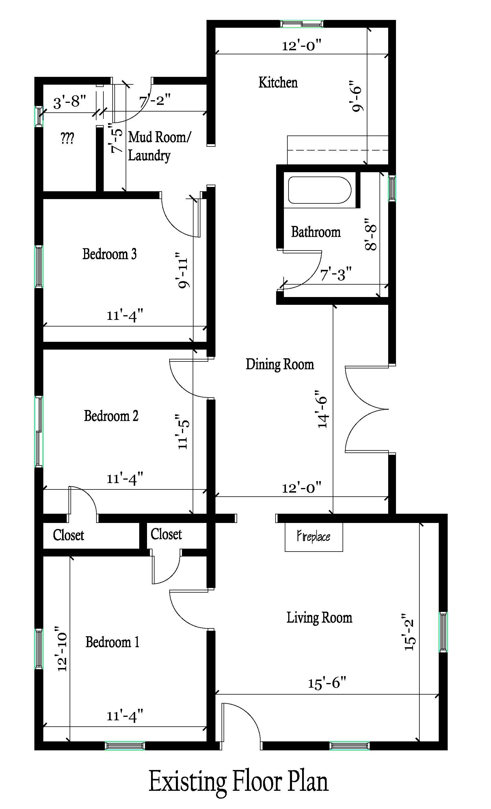Heartland House Existing Floor Plan