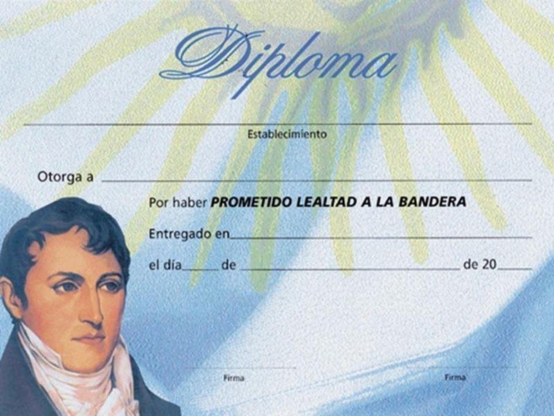 Resultado de imagen para certificado de promesa a la bandera ...