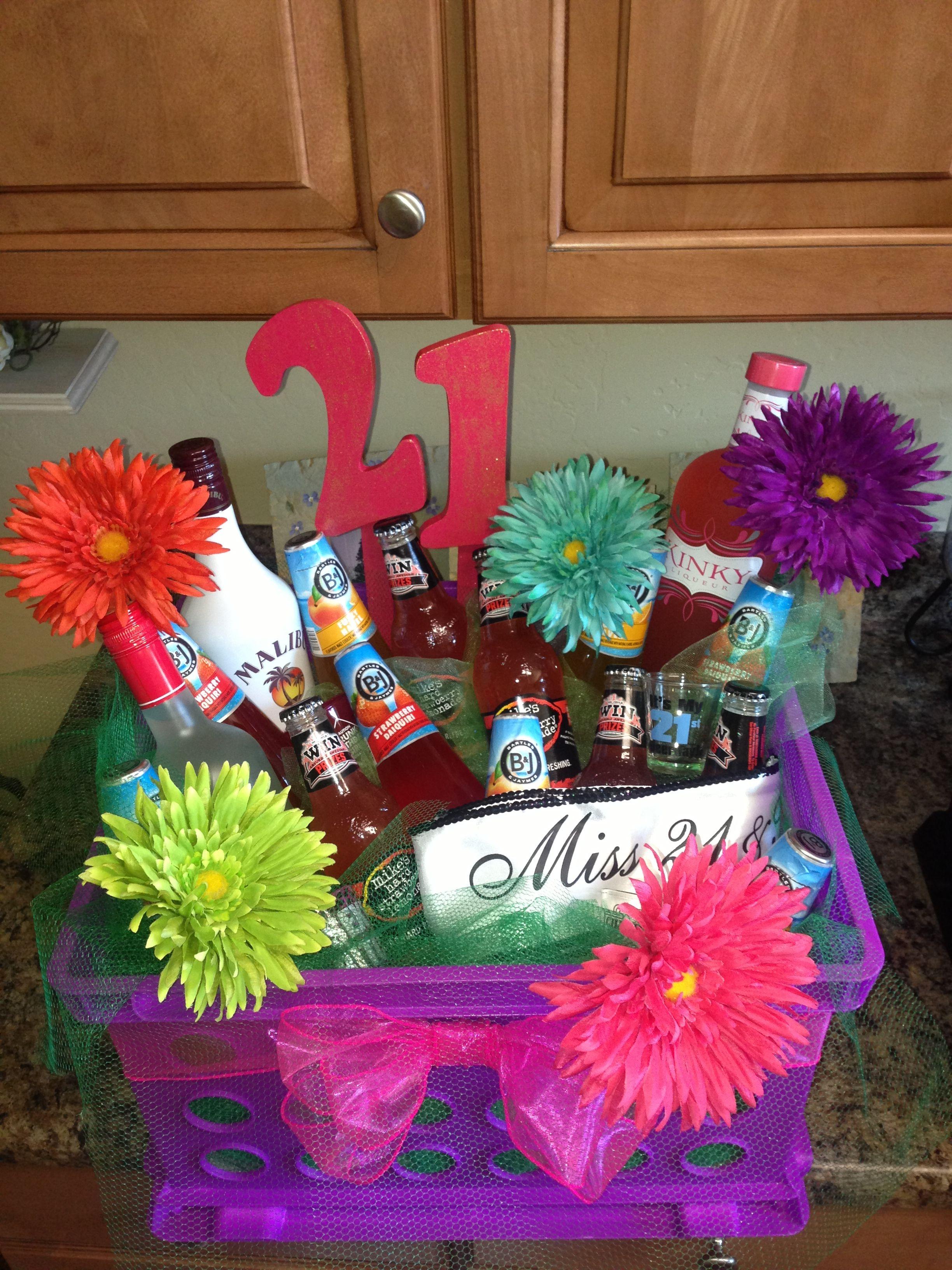21st Birthday Bucket of Booze Gift Booze gift, 21st