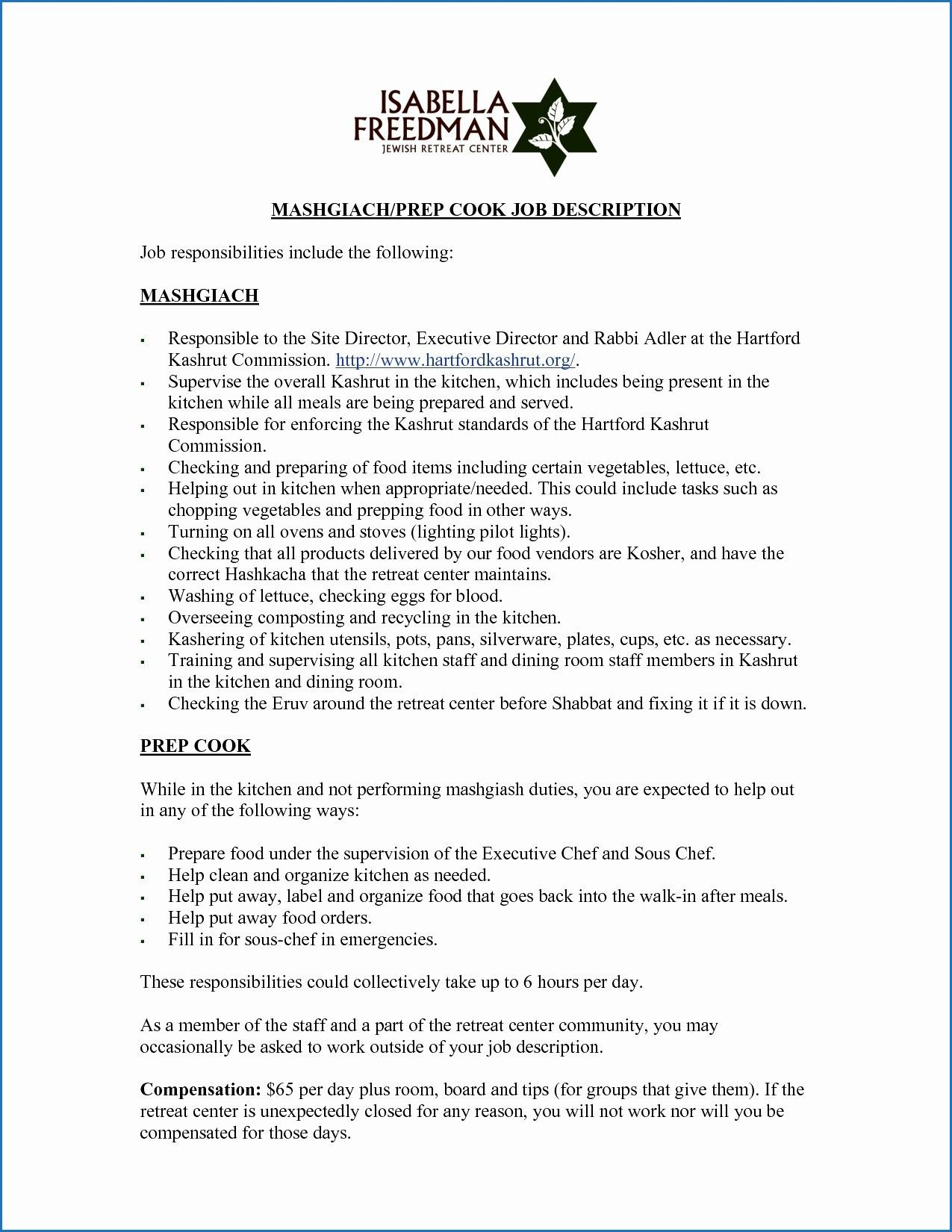 10 Example Resume Kitchen Assistant Check More At Https Www Ortelle Org Example Resume Kitchen Assistant