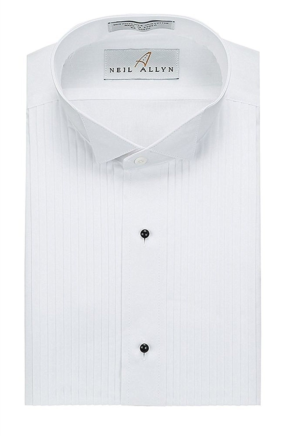 Slim Fit Tuxedo Shirt 100 Cotton Wing Collar With French Cuffs