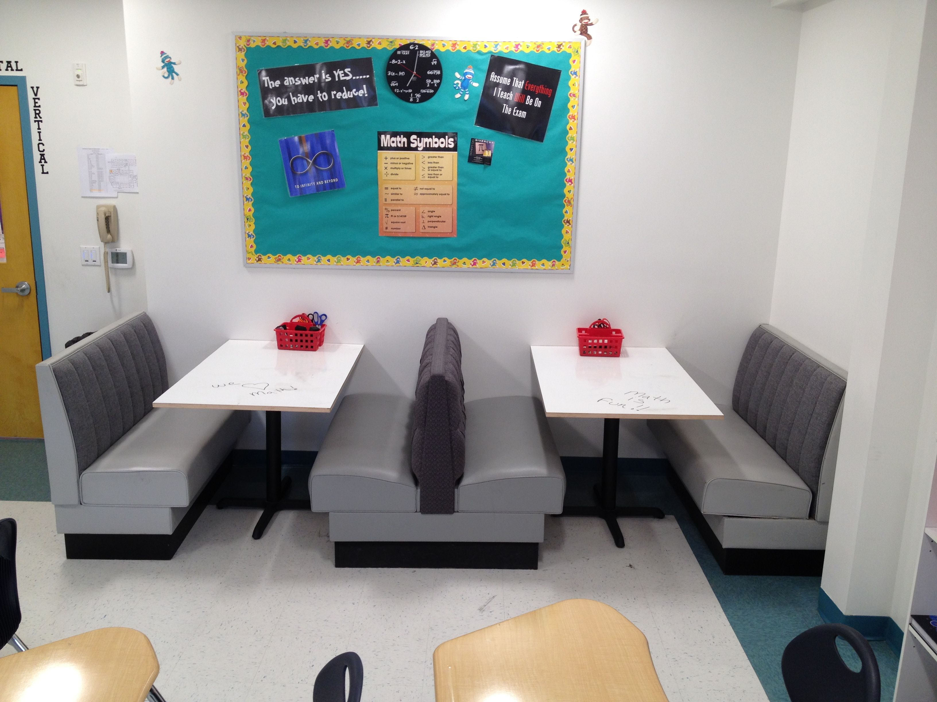 Classroom Seating Ideas : Classroom seating diner booths use for computer during