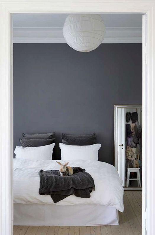Dark Grey Wall Paint Master Bedroom Color Home Bedroom