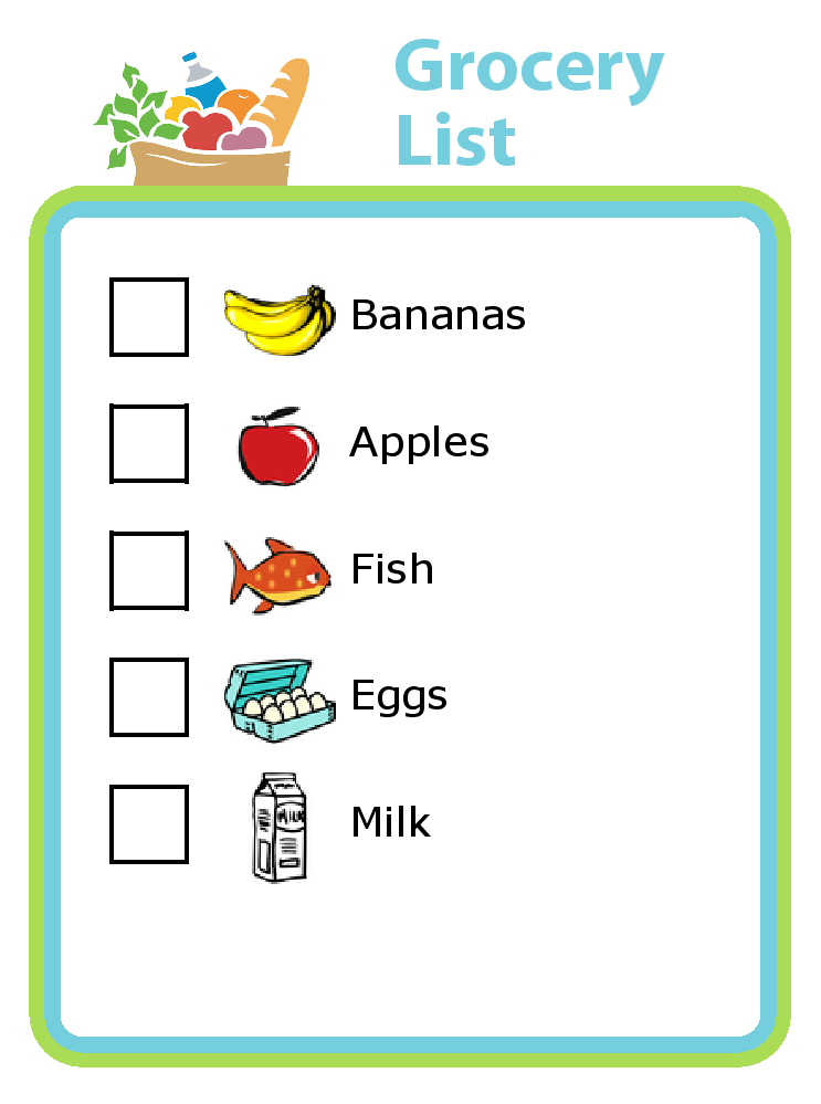 shopping checklists