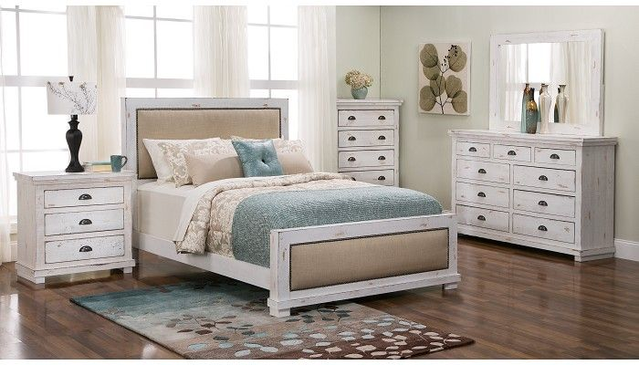 Slumberland Furniture   Willow Collection   White Uph 4 Pc Room