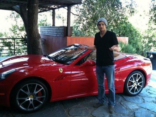 Ashton Kutcher's Ferrari California