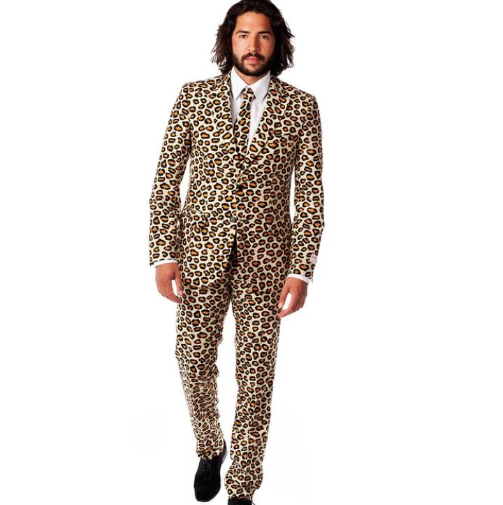 Men Animal Leopard Print Pre tied bow tie Clip on Fancy Dress UK