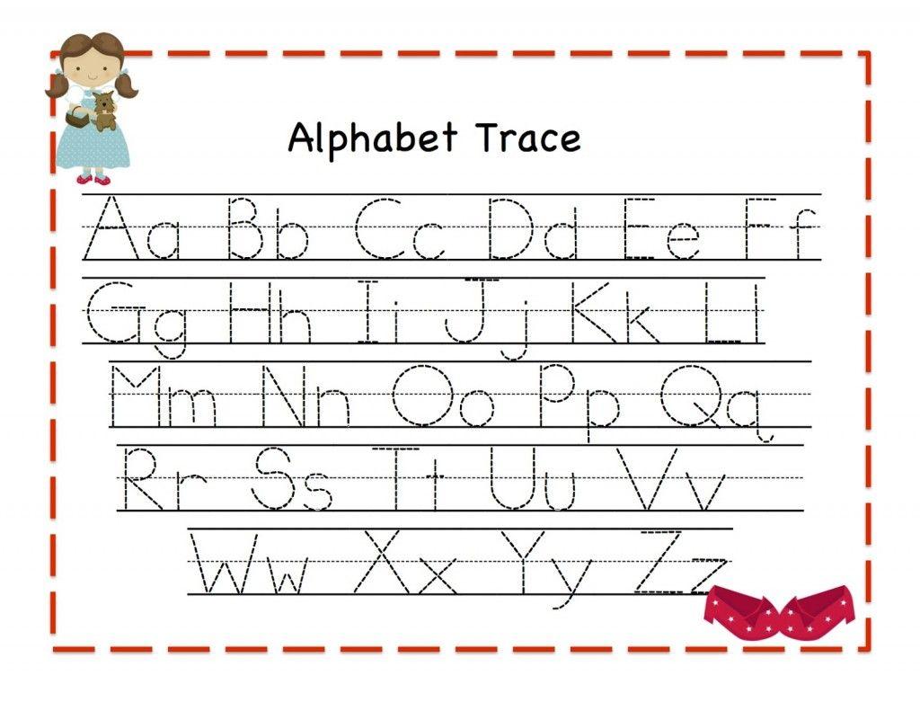 Alphabet Trace Template Letter