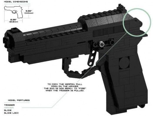 Simple To Build Lego Guns Lego Gun Pinterest Lego Guns Lego