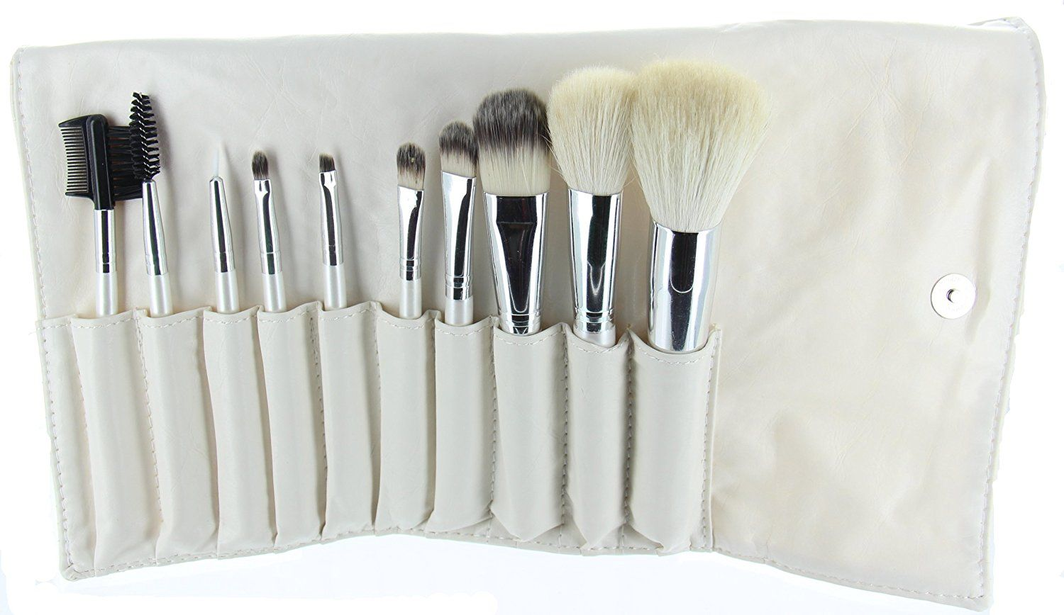 ETA Professional Cosmetic Brush Set with Travel Case (10