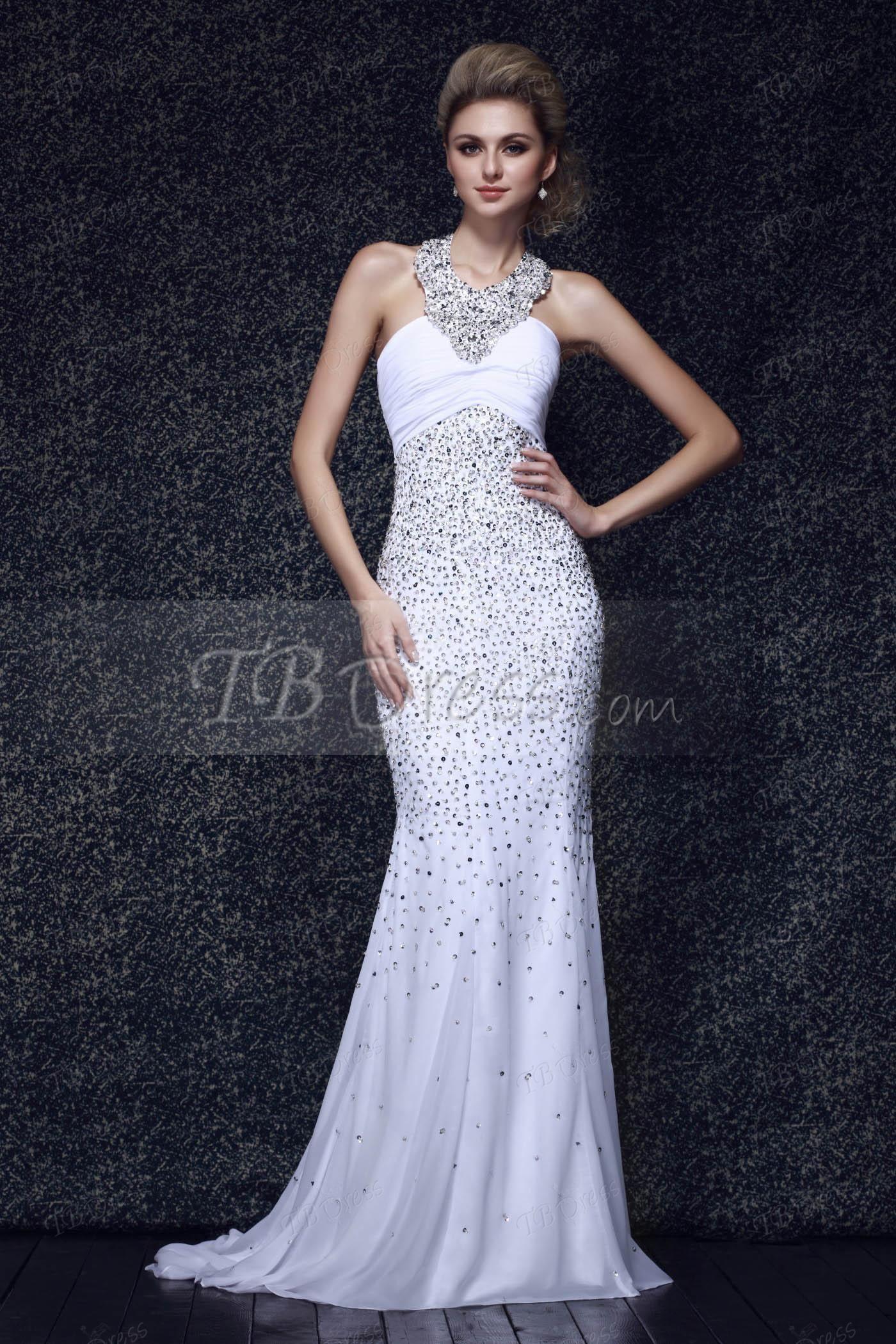 Trumpet/Mermaid Beading Halter Empire Waist Long Evening Dress ...