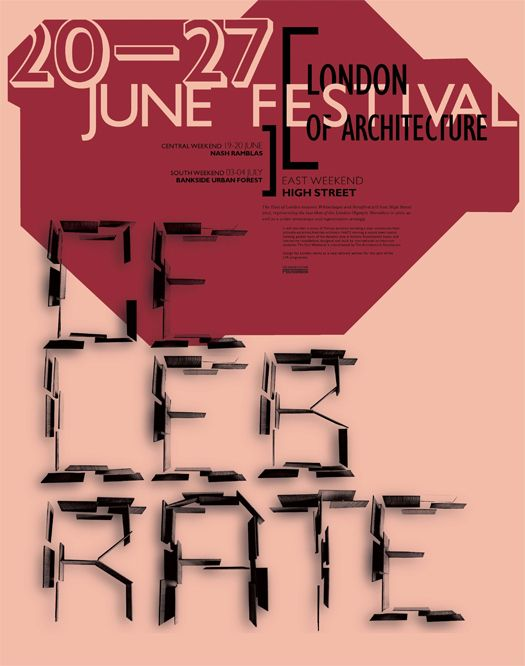 London Festival of Architecture Poster by Cyrene Mary, via Behance