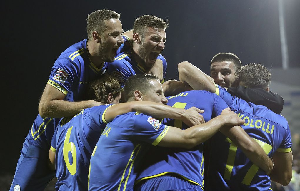 Kosovo National Football Team Holds First Official Match At Home Stadium National Football National Football Teams Football Team