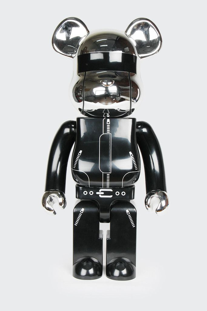 Bearbrick Daft Punk 1000 Silver Daft Punk Silver Vinyl Toys
