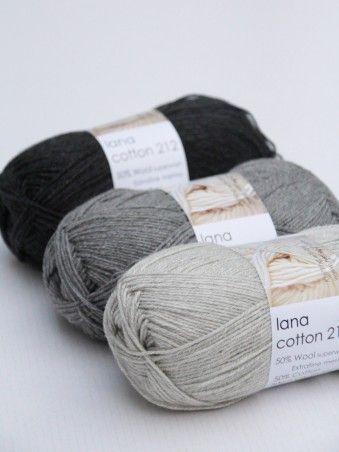 Hjertegarn Lana Cotton on herkullisen pehmeä lanka, joka on koostumukseltaan 50% merinovillaa ja 50% puuvillaa. Neulo tästä kauden kevyet asusteet ja muut neuleet.   Suosittelemme villapesua. Tarjous 4 e 50 g puuvilla merino puikot 3 - 3,5 villasukat