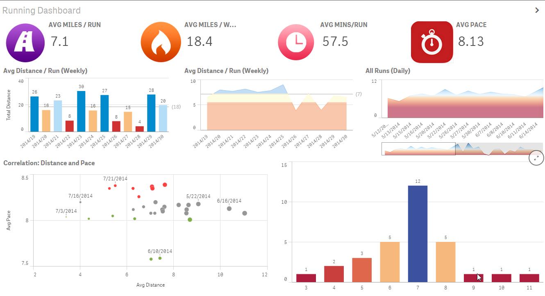 Qlik Sense Analytics to Get in Shape | Dashboard Designs