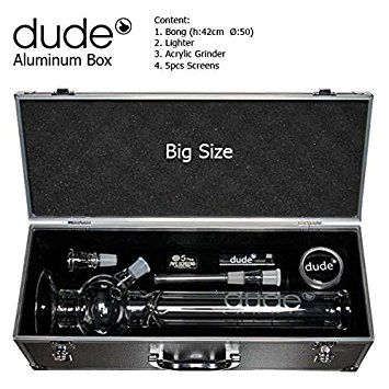 42cm Dude Bowl Glass Ice Bong in Suitcase - £31.99