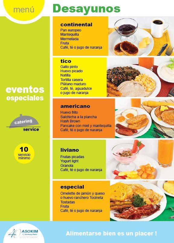 Galería | Español, Menu desayunos y Desayuno