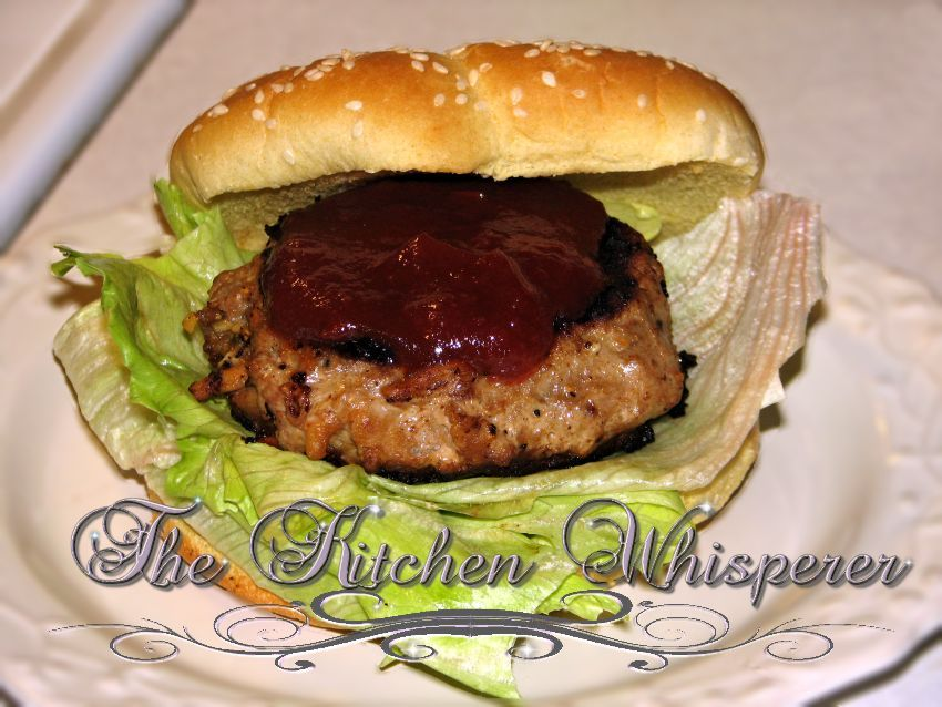 The Kitchen Whisperer Sweetened Ginger Asian Turkey Burgers with Sweetened Chili Lime Sauce