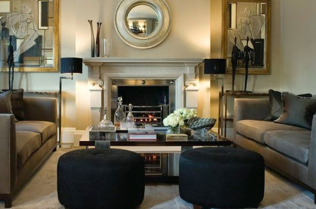Beautiful Living Room Neutral With Black And Gold Accents Living - Black and gold living room
