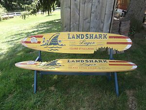 New Landshark Lager Surfboard Bench Jimmy Buffet Beer Sign