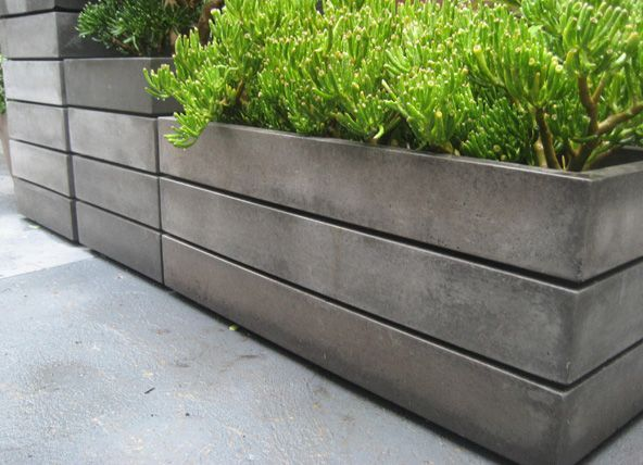 Image result for midcentury large concrete rectangular planters