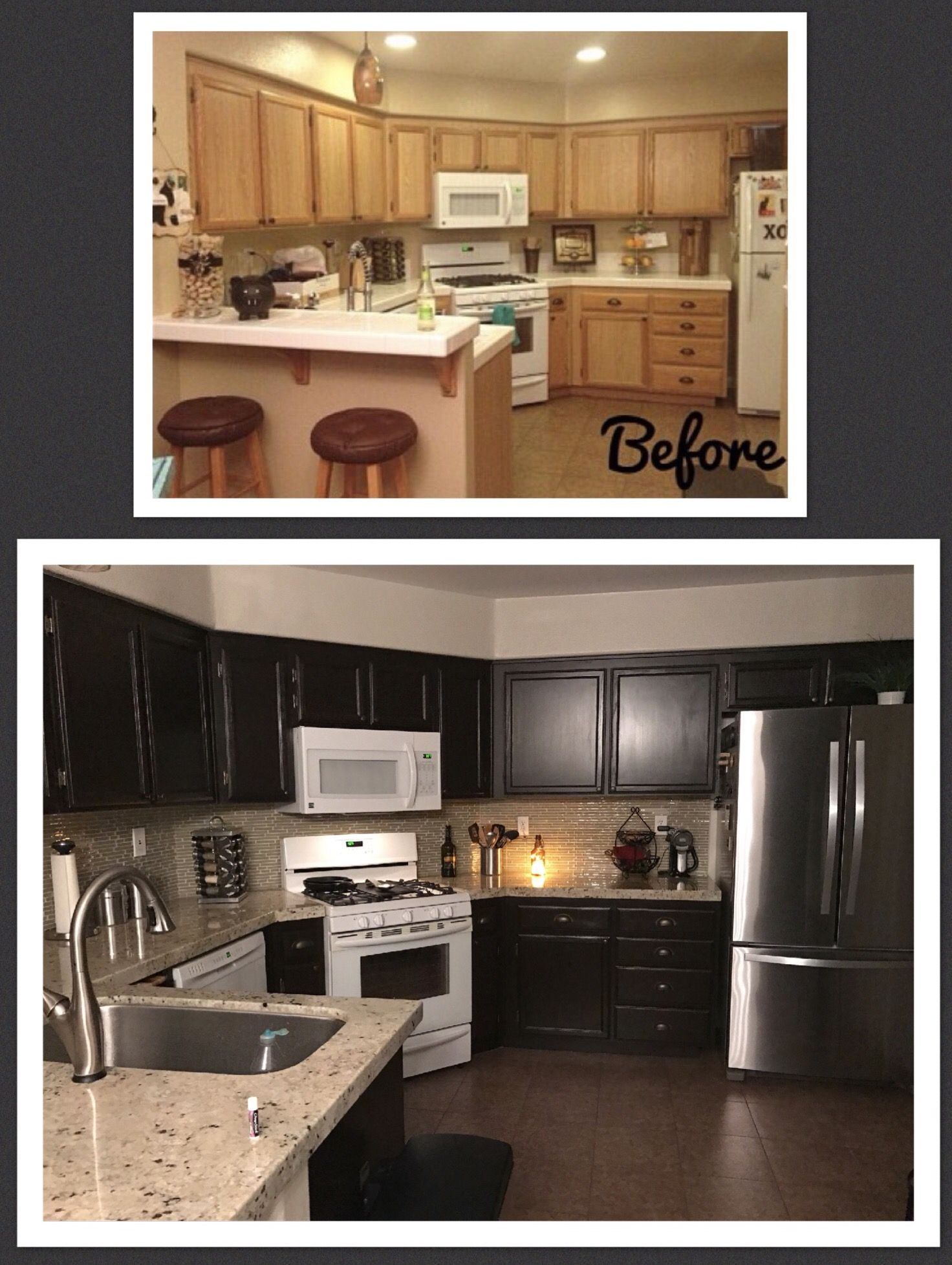 Diy Kitchen Makeover Rustoleum Cabinet
