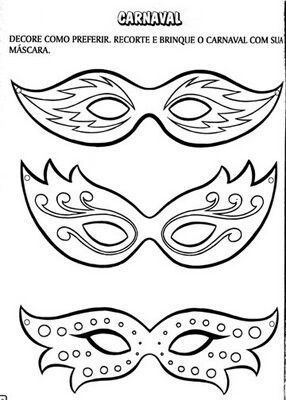 Okul Oncesi Yeni Yıl Partisi Maske Ve Gözlük Kalıpları Okul Oncesi