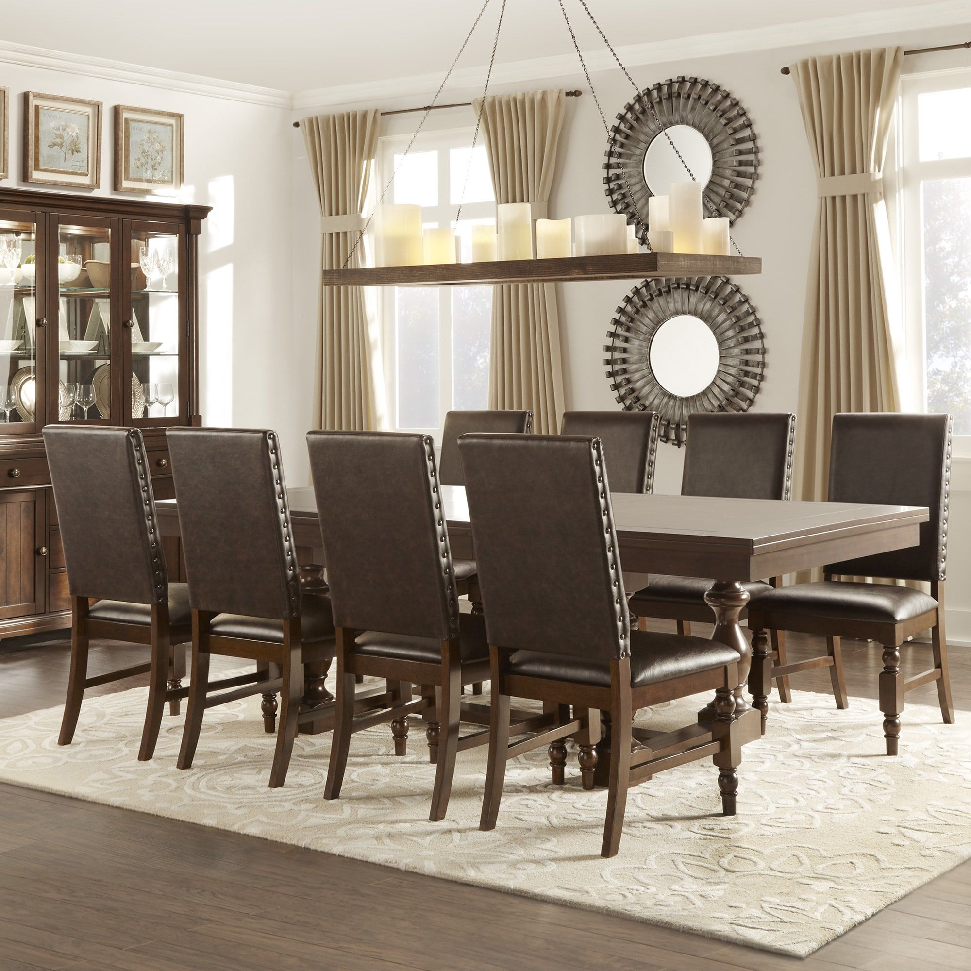 Delightful Flatiron Baluster Extending Dining Set By INSPIRE Q Classic | Overstock.com  Shopping   The