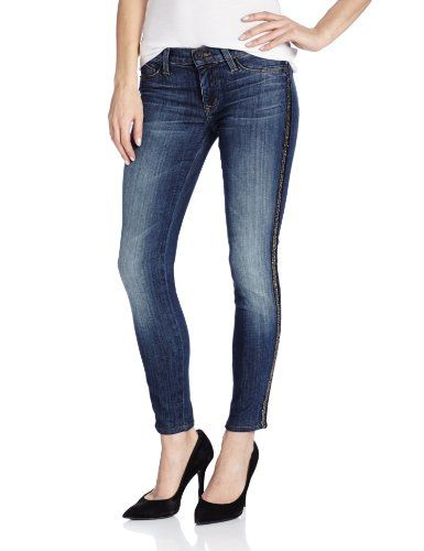 Hudson Jeans Women's Luna Ankle Skinny Jeans, Glam Beaded Stripe, 31