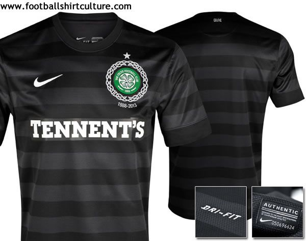 Glasgow Celtic 125th Anniversary Away Kit    Black Never Die ... aa2caa399