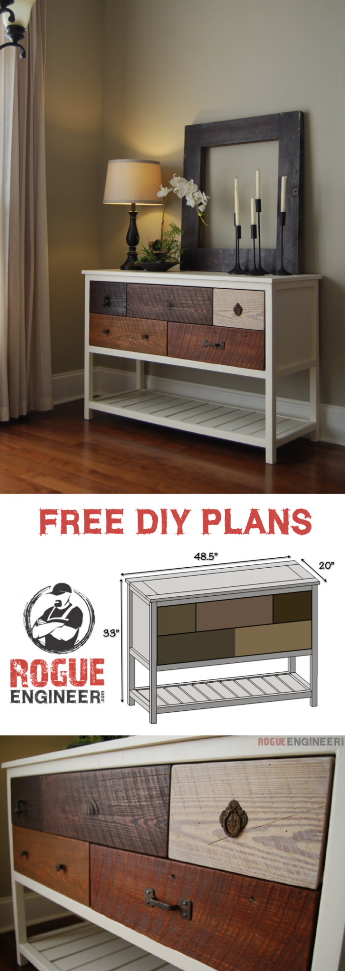 Free Console Table Plans | Furniture plans and Easy diy projects