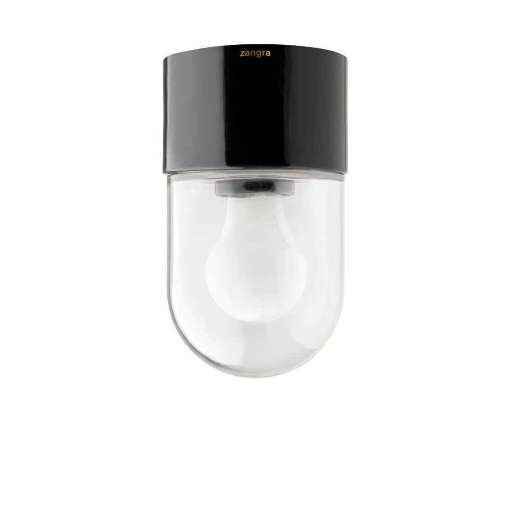 PILL Deckenleuchte aus Porzellan schwarz. Puristische Porzellanlampe ...