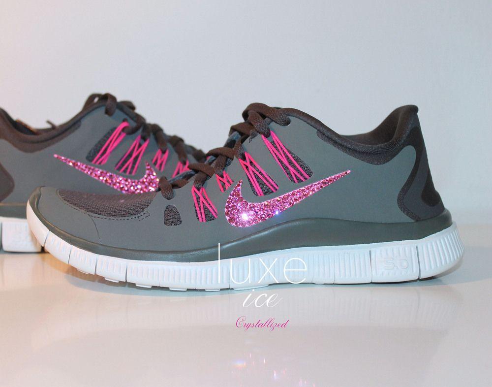 Nike Run Free 5.0 Chaussures De Course W Cristaux  / Swarovski Et Leurs Significations